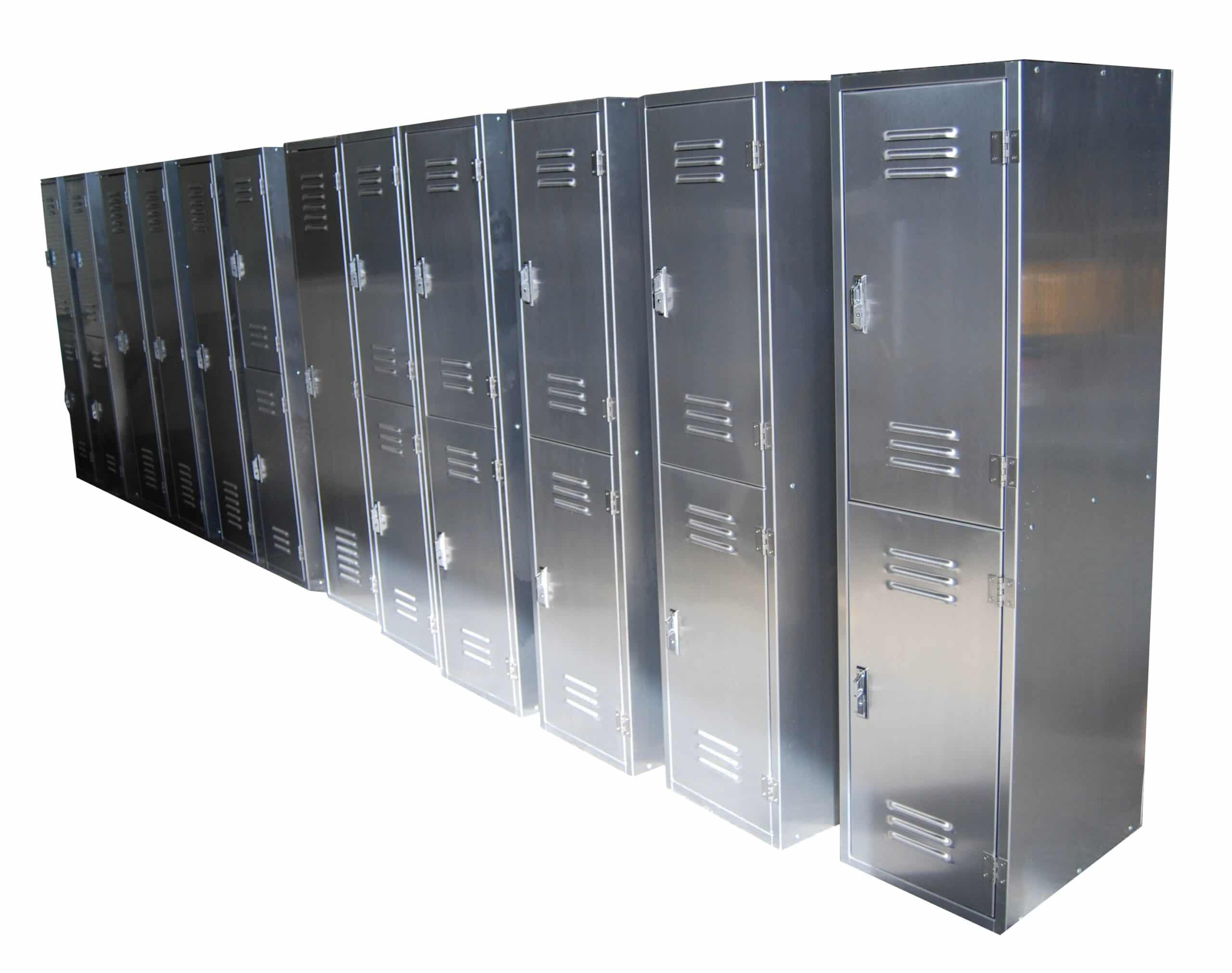 Rich results on Google's SERP when searching for 'two tier aluminum locker'