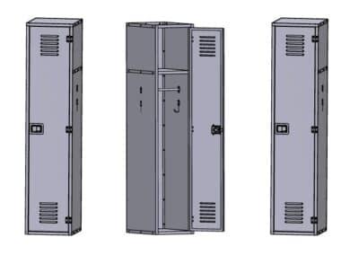 Aluminum Lockers